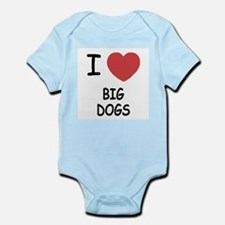 I heart big dogs Infant Bodysuit