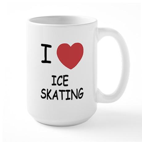 I heart ice skating Large Mug