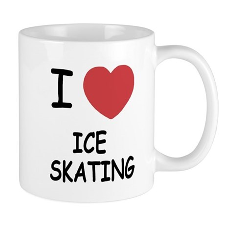 I heart ice skating Mug