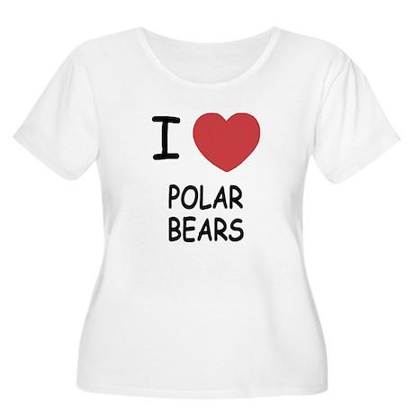 I heart polar bears Women's Plus Size Scoop Neck T