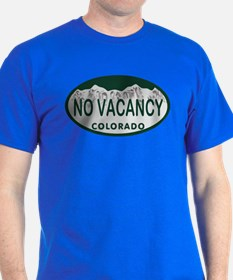 No Vacancy Colo License Plate T-Shirt