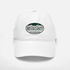 No Vacancy Colo License Plate Baseball Baseball Cap