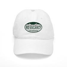 No Vacancy Colo License Plate Baseball Cap
