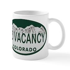 No Vacancy Colo License Plate Mug
