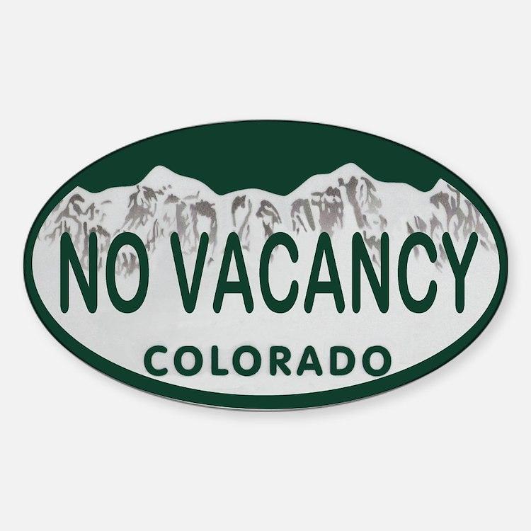 No Vacancy Colo License Plate Decal