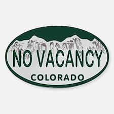 No Vacancy Colo License Plate Sticker (Oval)