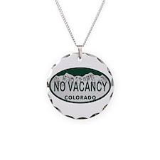 No Vacancy Colo License Plate Necklace