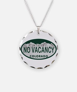 No Vacancy Colo License Plate Necklace