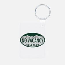 No Vacancy Colo License Plate Keychains