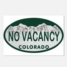 No Vacancy Colo License Plate Postcards (Package o