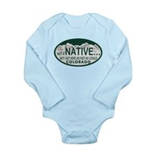 Not a Native Colo License Plate Long Sleeve Infant