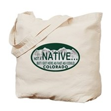 Not a Native Colo License Plate Tote Bag