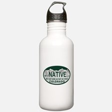 Not a Native Colo License Plate Water Bottle