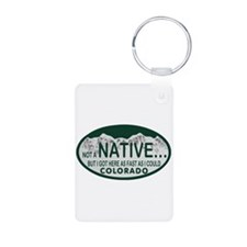 Not a Native Colo License Plate Keychains