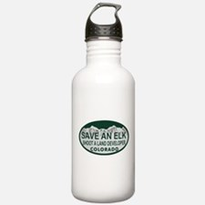 Save an Elk Colo License Plate Water Bottle