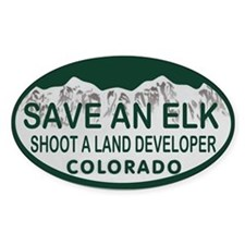 Save an Elk Colo License Plate Decal