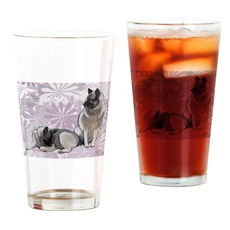 Norwegian Elkhounds Garden Drinking Glass