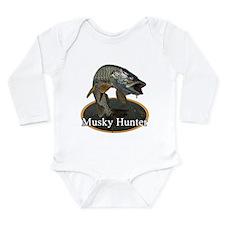Musky, 6 Long Sleeve Infant Bodysuit