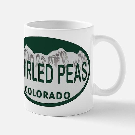 Whirled Peas Colo License Plate Mug