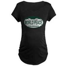 World Peace Colo License Plate T-Shirt