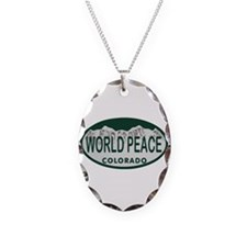 World Peace Colo License Plate Necklace
