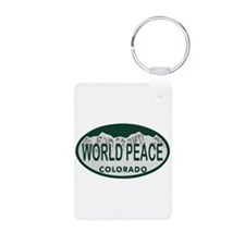 World Peace Colo License Plate Keychains