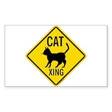 Caution Cat Crossing Decal
