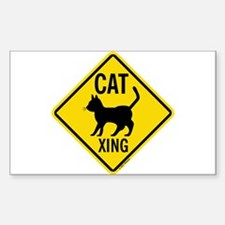 Caution Cat Crossing Decal