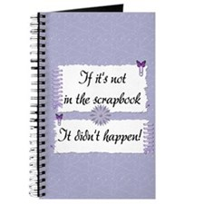 If it's not in the Scrapbook. Journal