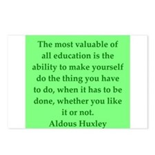aldous huxley quotes Postcards (Package of 8)