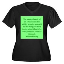 aldous huxley quotes Women's Plus Size V-Neck Dark