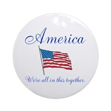 America All in this Together Ornament (Round)