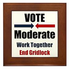 Vote Moderate Framed Tile
