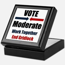 Vote Moderate Keepsake Box
