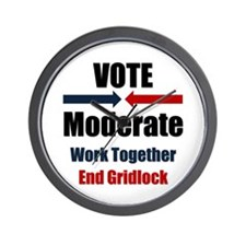 Vote Moderate Wall Clock