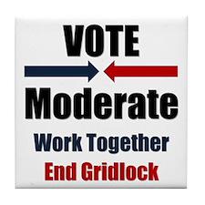 Vote Moderate Tile Coaster