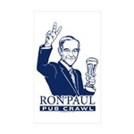 Ron Paul Pub Crawl Sticker (Rectangle 10 pk)