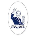 Ron Paul Pub Crawl Sticker (Oval)