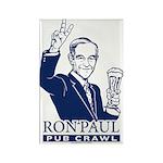 Ron Paul Pub Crawl Rectangle Magnet (100 pack)