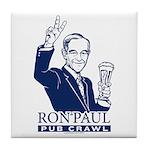 Ron Paul Pub Crawl Tile Coaster
