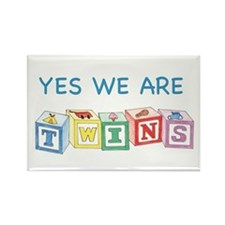 Yes We Are Twins Rectangle Magnet