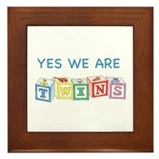 Yes We Are Twins Framed Tile