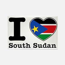 I love South Sudan Rectangle Magnet