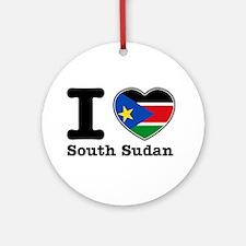 I love South Sudan Ornament (Round)