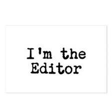 I'm the editor Postcards (Package of 8)