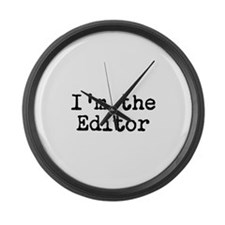 I'm the editor Large Wall Clock