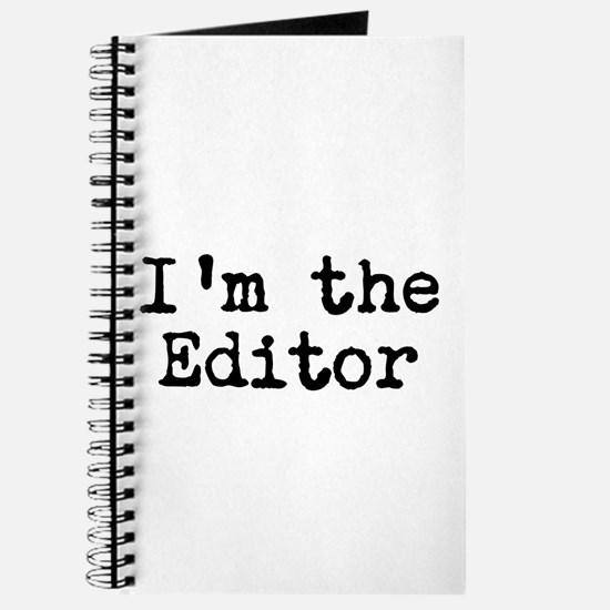 I'm the editor Journal