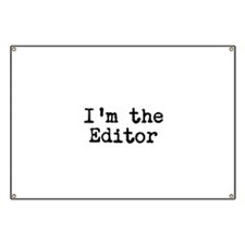 I'm the editor Banner