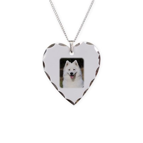 Samoyed 9Y602D-124 Necklace Heart Charm