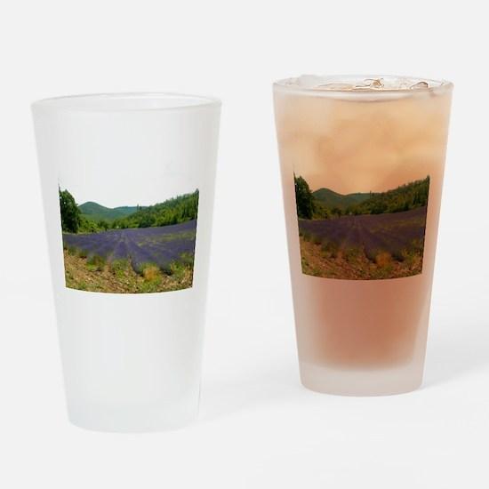 Lavender Fields Drinking Glass